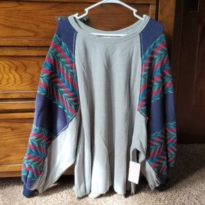 Free People Southwestern Sea combo Top